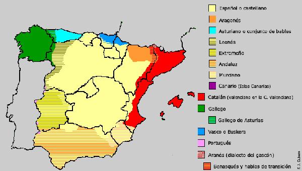 variedad linguistica españa